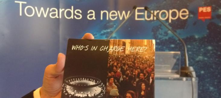 """Campaign postcard asks: """"Who is in charge here?"""""""