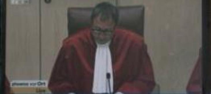 September 2012: Judge Vosskuhle pronounces the ESM ruling