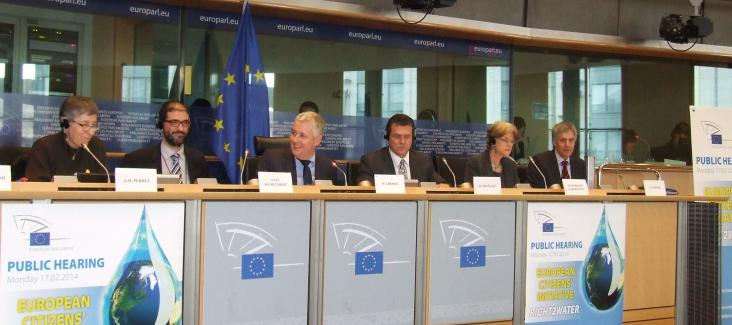 """The panel of the first ECI hearing on """"Right2Water"""""""