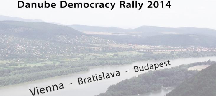 Banner Danube Democracy Rally