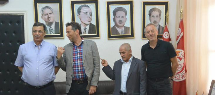 Daniel Schily and Bruno Kaufmann in Tunis in August 2014