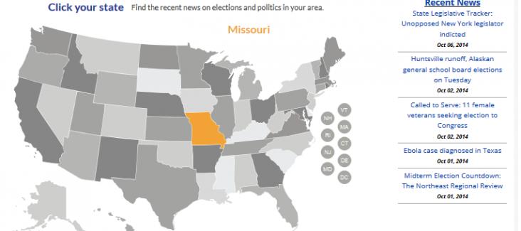 A screenshot of ballotpedia.org, capturing all ballot measures in the US