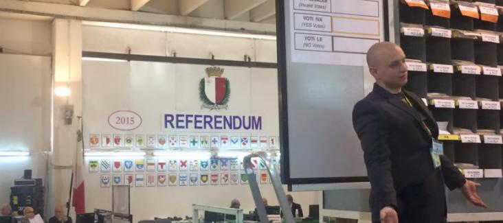 Popular vote in Malta 2015. Photo by Bruno Kaufmann