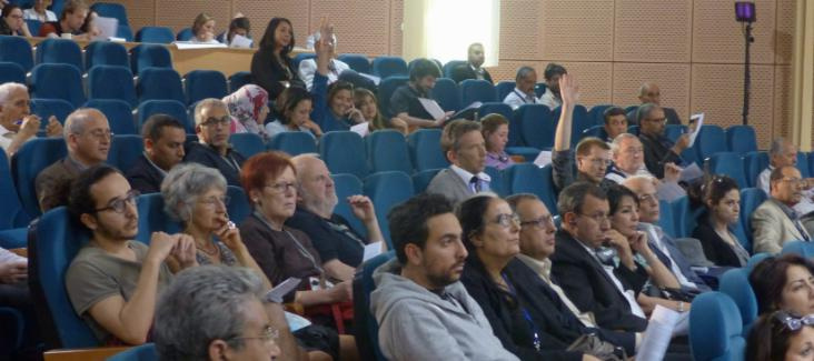 The general assembly took place in the auditorium of INAT, Carthage University