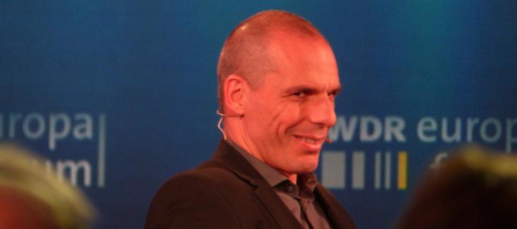 Yanis Varoufakis at a discussion on Europe in Brussels on 7 May 2015