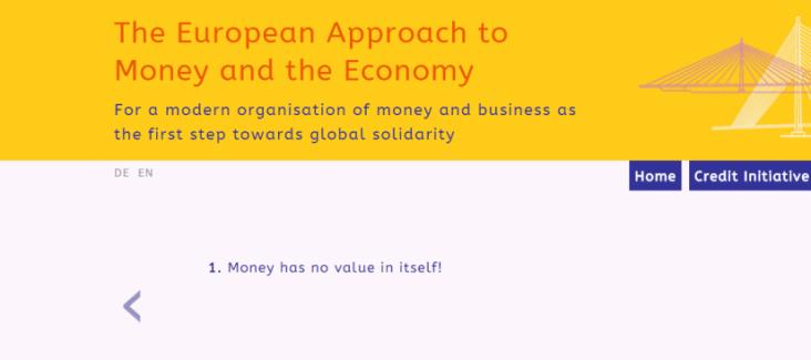 Screenshot of Credit Initiative Website