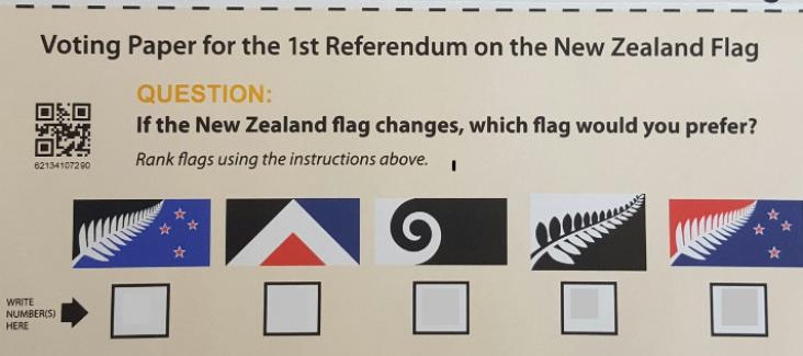 Flag voting papers