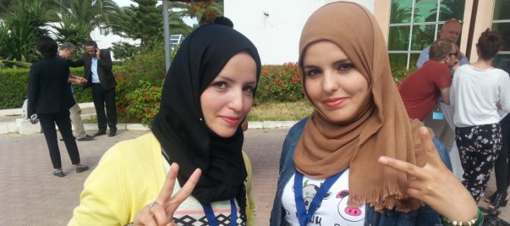 The twins Sana and Lamia