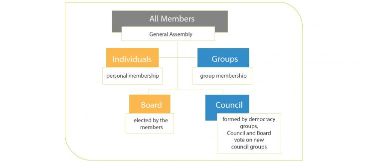 Democracy International's Organisational Structure
