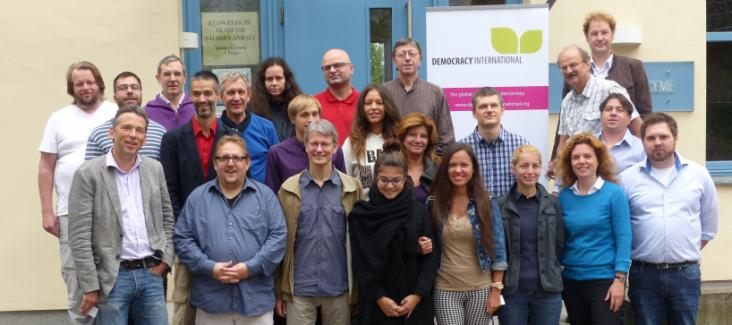 The participants of Democracy International's Summer Academy, September 2014