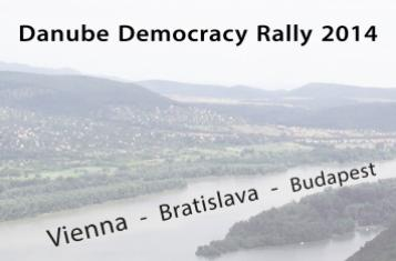 Banner Danube Democracy Rally