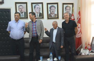 Daniel Schily and Bruno Kaufmann in Tunis in August 2014