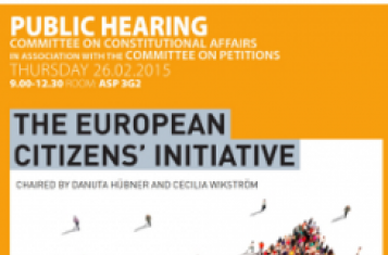The poster of the public hearing. Source: European Parliament
