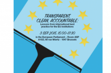 Poster of Clean-Lobbying-Event in Brussels on 3 September 2015