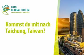 Global Forum: Bist du in Taiwan dabei?