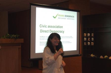"Lubica Schulczova, spokesperson of the Slovak civic association ""Direct Democracy"""