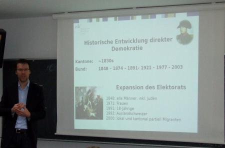 Dr. Uwe Serdült of the Centre for Research on Direct Democracy