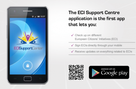 The Android app already exists and can be downloaded with the QR-Code in the image