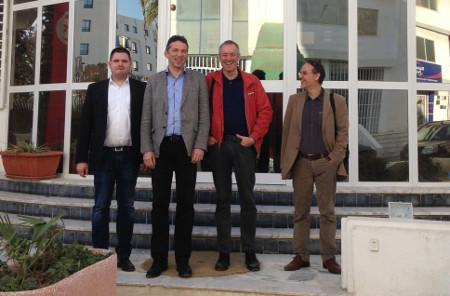 The preparation team in Tunis: Andreas Müller, Daniel Schily, Bruno Kaufmann and Amr Huber