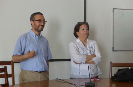 Mehdi Ben Mimoun and Zohra Lili Chabaane, Members of the Local Organisation Committee of  Carthage University