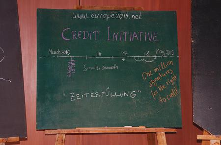 The 'plan' of the Crediti Initiative