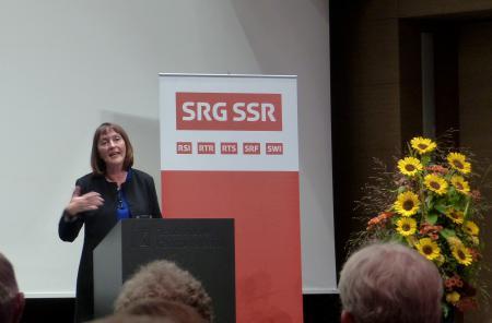 Sonia Seymour Mikich speaking in Chur