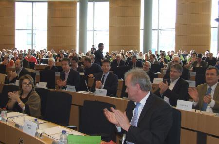 The audience of the hearing, approx. 400 people attended the event