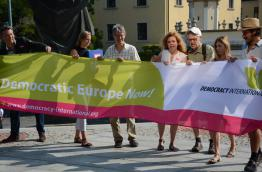 March for a Democratic Europe Now in Bratislava at EU Summit