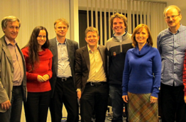 The Slovakian democracy group meeting with Ronald Pabst