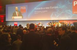 Party of European Socialists meeting in Palazzi dei Congressi in Rome