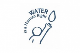 "The logo of the ECI ""Water is a human right"""