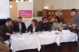Press conference Democracy International and mehr demokratie! Austria in 2013