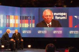 German Finance Minister Wolfgang Schäuble at WDR Europaforum in Berlin