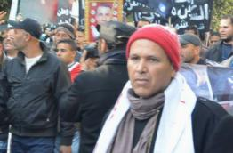 People commemorating Jasmine Revolution in Tunis on 14 January 2015