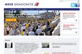 A screenshot of www.meerdemocratie.nl