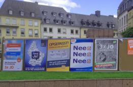 Posters of the referendum Campaign in Luxembourg City (Image: Wikipedia)