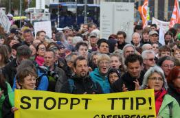 People protesting against TTIP in Berlin in April 2015, Source: Stop TTIP, Flickr