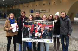 ECI Petition handover in Brussels, October 2016