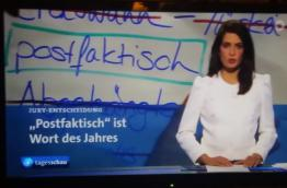 German TV news announcing the word of the year 2016