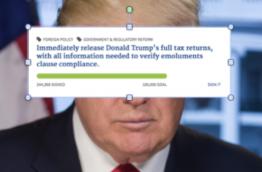Trump's website online-petition