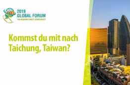 Global Forum: Bist du in Taiwan dabei?
