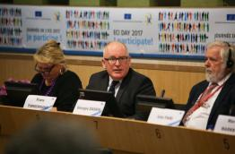 Commissioner Timmermans at ECI Day 2017, Photo: The ECI Campaign