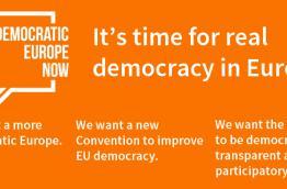 Banner Democratic Europe Now!
