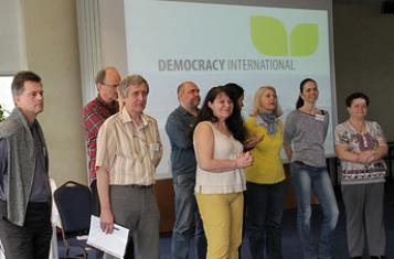 """The Slovak group """"Direct democracy"""" presents itself to Democracy International's General Assembly in 2014"""