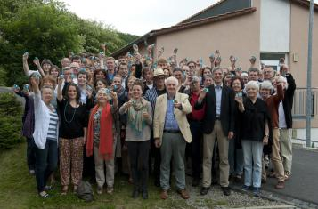 The participants of Mehr Demokratie's annual conference in Fuldatal in Summer 2012